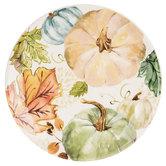Green, Cream & Blue Watercolor Pumpkin Plate
