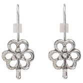 Flower Ear Wires - 23mm