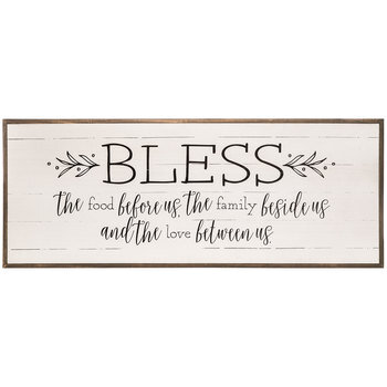 Bless The Food Before Us Wood Wall Decor