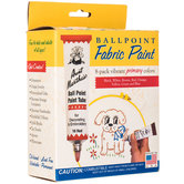 Primary Ballpoint Embroidery Paints - 8 Piece Set