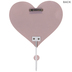 Pink Glitter Heart Wood Wall Hook