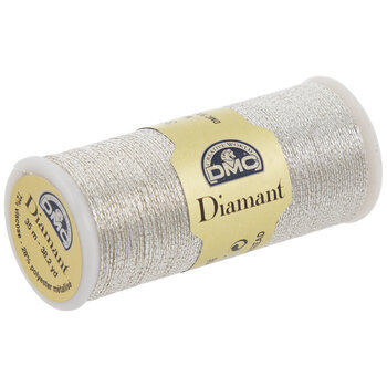 168 Light Silver Metallic Embroidery Thread