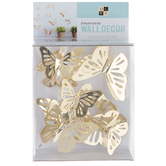 Gold Mirror Butterflies 3D Adhesive Wall Art