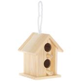 Mini 2-Hole Wood Birdhouse