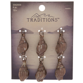 Brown Distressed Shell Charms