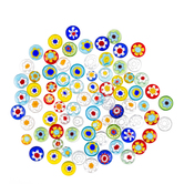 Round Millefiori Gem Mix - Mini