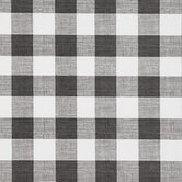 White & Black Buffalo Check Vinyl Fabric