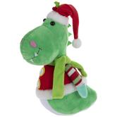 Santa Dinosaur Plush