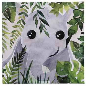 Jungle Elephant Canvas Wall Decor