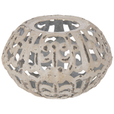 Distressed Metal Candle Holder