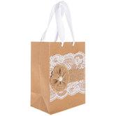 Burlap & Lace Gift Bag