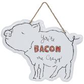 You're Bacon Me Crazy Metal Wall Decor