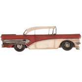 Red Car Metal Wall Decor
