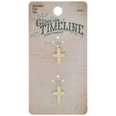 Cross With Rhinestone Star Charms