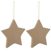 Paper Mache Star Ornaments