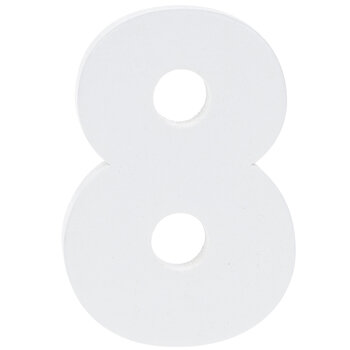 """White Wood Numbers 8 - 2"""""""