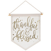 Thankful & Blessed Banner Wall Decor