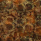 Sunflower Batik Cotton Fabric