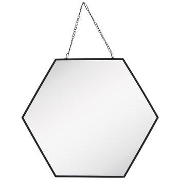 Hexagon Metal Wall Mirror