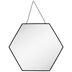 Black Hexagon Metal Wall Mirror - Small
