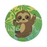 Sloth Paper Plates - Small