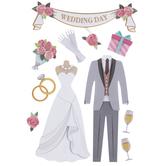 Wedding Day 3D Stickers