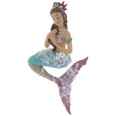 Mermaid With Shell Crown Ornament