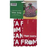 From Santa Gift Bike Bag