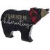 Rather Be Hibernating Bear Wood Decor