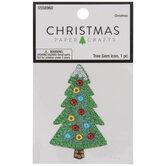 Christmas Tree Rhinestone Sticker