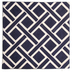 Blue & White Geometric Embroidered Pillow Cover