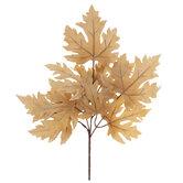 Light Brown Maple Leaves Pick