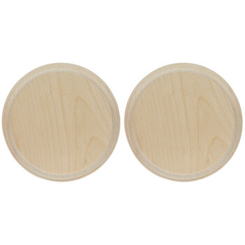 Round Wood Plaques - 5""