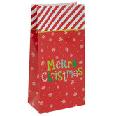 Striped Merry Christmas Gift Sacks