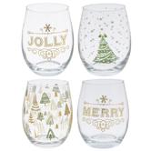 Christmas Stemless Glasses