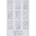 Silver Foil Blended Script Alphabet Stickers