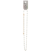 """Enamel Dotted Chain Necklace - 16"""""""