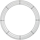 Round Metal Wire Wreath Frame - 16""
