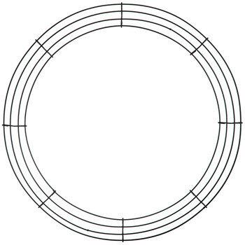 """Round Metal Wire Wreath Frame - 16"""""""