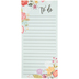 Floral To Do Magnetic Lined Notepad