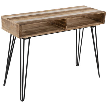 Wood Console Table With Hairpin Legs