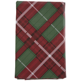 Red & Green Plaid Tablecloth