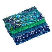 Blue & Green Vintage Floral Fat Quarters