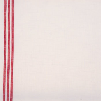 Red Toweling Striped Muslin Fabric