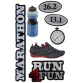 Marathon 3D Stickers