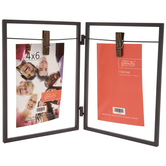 """Rustic Metal Double Opening Clip Frame - 4"""" x 6"""""""