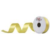 "Pale Yellow Single-Face Satin Ribbon - 7/8"""