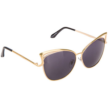 Gold Double Wire Cat-Eye Sunglasses