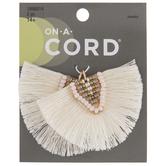 Beaded Thread Tassel Pendants