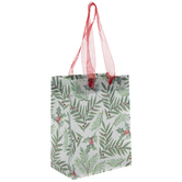 Leaves & Holly Berry Gift Bag